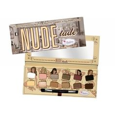 @Overstock - theBalm Nude'tude Eyeshadow Palette - This amazing palette consists of 12 beautiful shadows that make wearing nudes sexy! These satiny smooth colors can be applied naturally or beautifully layered. The wide range gives you light highlighters as well as brazen bold shades.
