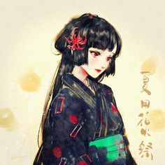 higanbana by on DeviantArt Japanese Culture, Japanese Art, Anime Art Girl, Manga Art, Cabelo Rose Gold, Geisha Art, Geisha Anime, Anime Elf, Character Art