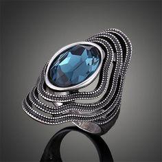 Trendy Mode Indah seperti Yang Dijelaskan Vintage Antique Perak Cincin untuk Wanita Bohemian Boho maxi Cincin Anillos Bague Femme J02326