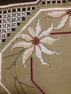 Handmade Beautiful Hardanger embroidered linen by Inspiria on Etsy