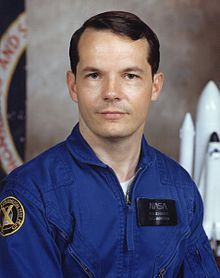 Robert Stewart, astronaut. Earned a master of science in aerospace engineering from UT Arlington in 1972.