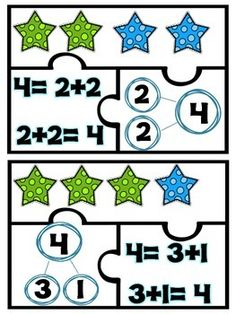 free number bond puzzle, addition puzzle
