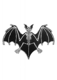Kreepsville's Bat Skelli Bones Patch is a gothic patch that looks great on a bag or jacket. The creepy patch features a bat skeleton with an easy, iron-on back. Bat Skeleton, Skeleton Hands, Patch Pants, Jacket Patches, Nape Tattoo, Goth Tattoo, Goth Jewelry, Cool Patches, Punk Goth