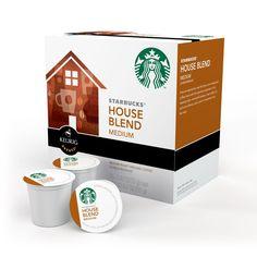 Keurig Starbucks House Blend K-Cup Packs, 16-Count