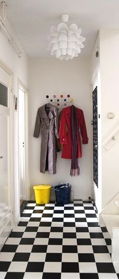 Via Ikea Family Live | Eames Hang it All | Normann Copenhagen Lamp | Checkered Floor | Colour