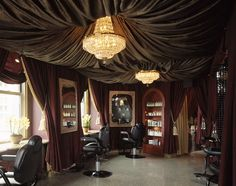 needs more lighting but regardless very nice and exclusive look to the salon