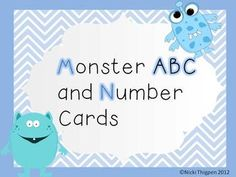 Monster ABC and Number Cards - FREEBIE LOVE these!  Great for ordering activities in the pocket chart.