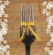 """Résultat de recherche d'images pour """"faire noeud ruban avec fourchette"""""""