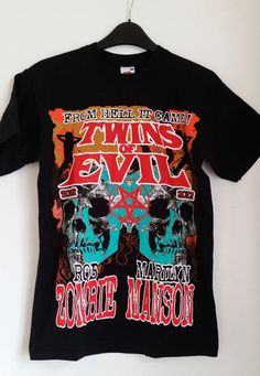 Twins of Evil Tour t shirt Rob Zombie Marilyn Manson size S