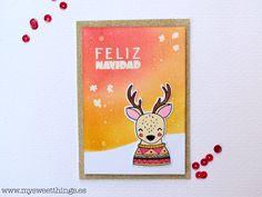 Tarjeta embossing y distress Feliz Navidad http://www.mysweetthings.es/2015/12/scrapliftduo-tarjeta-embossing-y.html