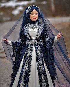 ✔ Dress Designs Indian New Muslimah Wedding Dress, Muslim Wedding Dresses, Hijab Bride, Wedding Hijab, Dress Wedding, Turkish Wedding Dress, Indian Wedding Gowns, Beautiful Dress Designs, Most Beautiful Dresses
