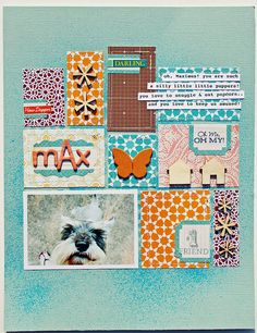 #papercraft #scrapbook #layout - Melissa Mann inspiration