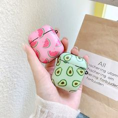 Cute Watermelon Avocado Fruit Cartoon Apple Airpod Case Wireless Headphone Earphone Charging Cover Silicone Holder Storage Kawaii Korean Japanese Source by storenvy Cute Cases, Cute Phone Cases, Iphone Phone Cases, Fruit Cartoon, Avocado Cartoon, Accessoires Iphone, Earphone Case, Airpod Case, Air Pods