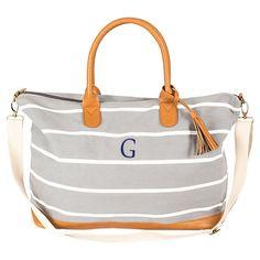 Women's Monogram Weekender Bag - Gray Stripe G, Gray - G