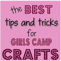 Girl's Camp Crafts---Sugar Bee Crafts: sewing, recipes, crafts, photo tips, and more!