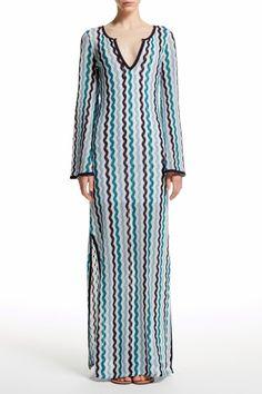 Inika Zig Zag Crochet Maxi Dress   | Calypso St. Barth