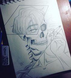 Skeleton Drawings, Skeleton Art, Dark Art Drawings, Art Drawings Sketches Simple, Pencil Art Drawings, Illustration Sketches, Easy Drawings, Sketches Of Boys, Boy Sketch