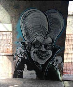 """Uno dei tanti graffiti dedicati al """"Conte Zakula"""""""