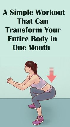 health fitness - A Simple Workout That Can Transform Your Entire Body in One Month Sport Fitness, Fitness Workouts, Easy Workouts, At Home Workouts, Health Fitness, Fitness Tips, Fitness Memes, Fitness Outfits, Cardio Workouts