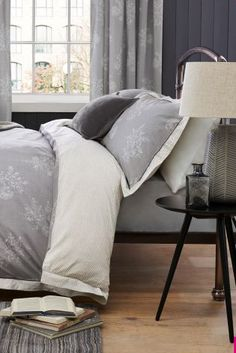 Buy Cotton Rich Woodblock Leaf Bed Set online today at Next: Israel
