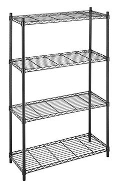 Whitmor 6070-322 Supreme 4-Tier Shelving Unit, Black, 2015 Amazon Top Rated Racks, Shelves & Drawers #Home