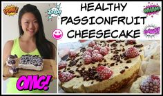 EASY HEALTHY PASSIONFRUIT CHEESECAKE (NO BAKE) | FOOD PREP YOUR DESSERTS