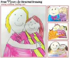 FREE Mother's Day Directed Drawing with differentiated writing pages to write a sweet letter to Mom