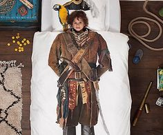 Tucking in your little matey has never been more fun with this awesome pirate bedding set! They'll love climbing inside these comfortable cotton sheets and bedtime will no longer be a chore for all of you! Features fun pirate graphics on the duvet cover and pillowcase so that when they're in bed they'll look just like a little Jack Sparrow!