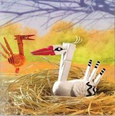 Bird Crafts, Animal Crafts, Wooden Crafts, Doll Crafts, Diy For Kids, Crafts For Kids, 4 Kids, Children, Clothespin Art
