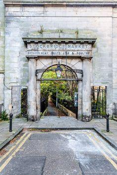 A beautiful historic arch in the Stockbridge area of Scotland's Edinburgh. #scotlandtravel