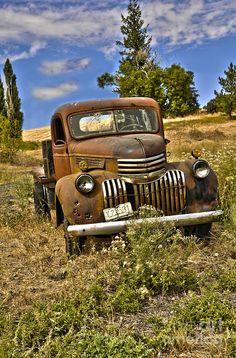 Chevy Truck by Camille Lyver – En Güncel Araba Resimleri Old Pickup Trucks, Farm Trucks, Cool Trucks, Chevy Trucks, Cool Cars, Chevy 4x4, 4x4 Trucks, Diesel Trucks, Classic Trucks