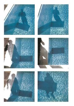 David Hockney Polaroid photographs depicting shadows in a pool from the special edition Paper Pools book, which accompanies the print David Hockney Pool, David Hockney Photography, David Hockney Artwork, Encaustic Painting, Chalk Pastels, Illuminated Letters, Cubism, Linocut Prints, Photography Portfolio