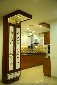 Consider this significant illustration in order to look into today information and facts on bedroom furniture makeover Living Room Partition Design, Room Partition Designs, Kitchen Room Design, Home Room Design, Room Interior, Interior Design Living Room, Temple Design For Home, Mandir Design, Pooja Room Door Design