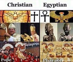 What's the difference between Christianity catholicism, and Egyptian idol worship? Ancient Aliens, Ancient History, Memes Estúpidos, Black History Facts, History Education, African American History, Creepy, Symbols, Illuminati Secrets