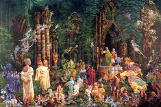 """One of my very favorite prints. """"Court of the Fairies"""" by James C. Christensen."""