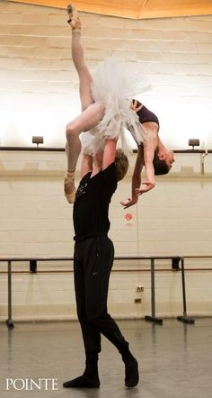 Polina Semionova and David Hallberg rehearsing Swan Lake Photos by Matthew Murphy for Pointe Magazine