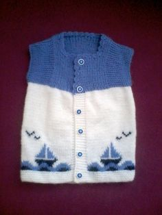 Ravelry: Argyle Vest Pattern By Patons - maallure Baby Cardigan, Baby Boy Vest, Baby Pullover, Baby Scarf, Baby Boy Outfits, Kids Outfits, Knit Vest, Baby Knitting Patterns, Knitting For Kids