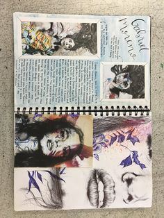 Gcse art sketchbook art artist research page on Gabriel Moreno - Livvy Coombs
