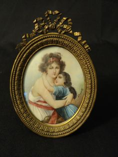 Beautiful 19th C French Gilt Frame with Gorgeous Enamel Signed Portrait | eBay