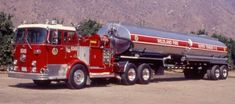 A huge fire truck that holds a lot of water for giant fires, always got to be prepared