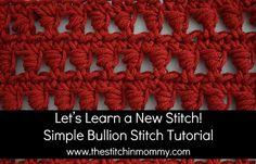 Let's Learn a New Stitch! - Simple Bullion Stitch Tutorial | www.thestitchinmommy.com