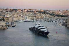 Serene yacht in Malta