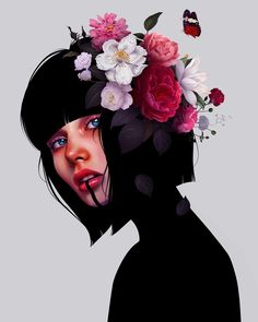Laura H. Rubin is a digital artist and illustrator based in Bern, Switzerland. Lauren describes herself as a Visual FX Artist & Graphic Designer Digital Art Girl, Digital Portrait, Portrait Art, Framed Art Prints, Canvas Prints, Guache, Aesthetic Art, Art Drawings, Illustration Art