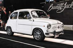 1960 Fiat 600, 22 HP, OHV, 0.6 L inline four sold for $11,000.00 at the Barrett Jackson auction in 2015