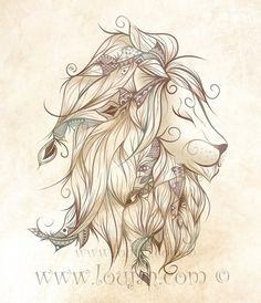 LOVE this art! LouJah - Poetic Lion