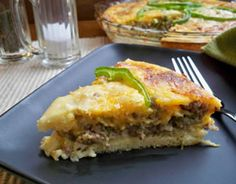 Pork sausage and green peppers are combined for a nice mixture of flavor in this pie-style entree. With the addition of eggs in this recipe it makes a great breakfast or lunch dish. Sausage Pie, Sausage And Egg, How To Cook Sausage, Sausage Recipes, Appetizer Ideas, Appetizers For Party, Breakfast Ideas, Breakfast Recipes, Impossible Pie