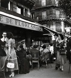 Cafe de Flore Paris... Robert Doisneau, 1949