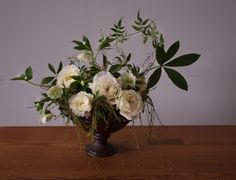 Sooo pretty! Love for my bouquet! Like the leaves  over ferns in other bouquet, I think. Great seedy things! Think it's white.