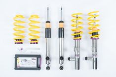 KW Variant 2 Coilovers More adjustability for increased performance or more ride comfort with outstanding looks. Featuring TVR-A adjustable rebound Car Mods, Rebounding, Volkswagen Golf, Bmw X3, Kit, Electronics, Car Parts, Tableware, Dinnerware