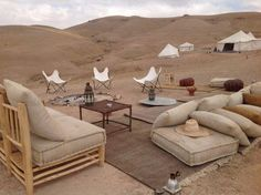 Hotel Bohemia - Wanderlust Bucket list - Travel tips - Travel tour - travel ideas Lobby Interior, Interior Exterior, Interior Design, Marrakech, Outdoor Seating, Outdoor Spaces, Desert Resort, Desert Life, Luxury Camping